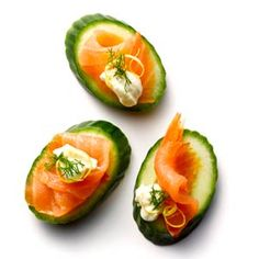 Salmon and Cucumber Bites - low calorie