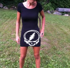 Forever Grateful, Grateful Dead, Steal Your Face, teeshirt dress Summer Clothes, Diy Clothes, Summer Outfits, Boho Style, My Style, Bleach Pen, Sexy Pajamas, Forever Grateful, Young Love