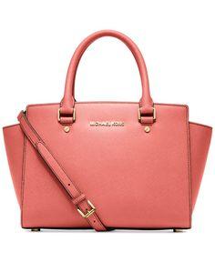 cheap designer handbags michael kors 3fzi  MICHAEL Michael Kors Selma Medium Satchel