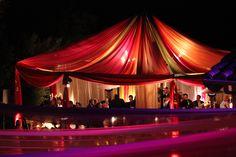 Drape tent/ multi color for Morrocan themed wedding