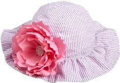 Mud Pie Baby-Girls Newborn Baby Buds Reversible Seersucker Flower Hat