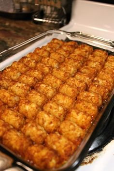 Tater Tot Casserole Recipe! Super good! Loved how I made the sloppy joe mixture from scratch!! Awesome recipe!