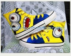 Despicable Me Converse High Tops  #AwesomeClothes