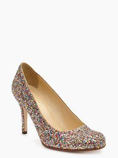 Kate Spade Karolina pumps in multi-glitter