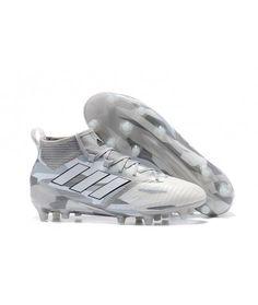 quality design 34f63 41df9 Adidas ACE 17.1 FG TIL FAST UNDERLAG GRESSmenn fotballsko hvit Gray svart