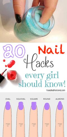 Life changing nail hacks, people!! I wish I knew about these tips and tricks a long time ago!! GREAT pin!!