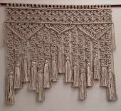 Hey, I found this really awesome Etsy listing at https://www.etsy.com/listing/262254163/macrame-wall-hangingmacrame-curtain