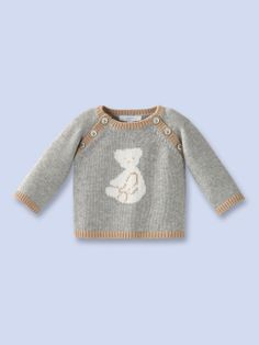 Goeland Teddy Motif Sweater by Jacadi at Gilt