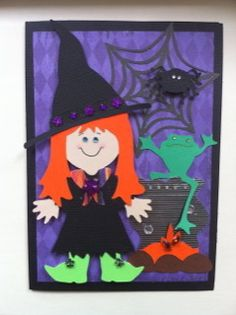 Halloween Card done with Cricut Paper Doll Dress up.