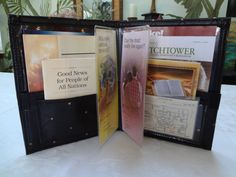 Service Organizer Holder Folder holds Watchtower magazines, Bible, tracts, house to house records, get organized,  hold everything in one hand,  keep literature clean!