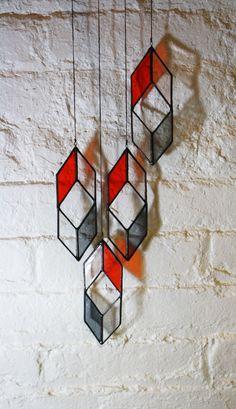 SALE Stained Glass Elements: Diamond Drops by BespokeGlassTile