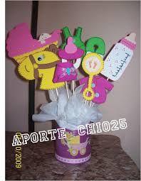 adornos de mesa para baby shower de cigueña - Buscar con Google