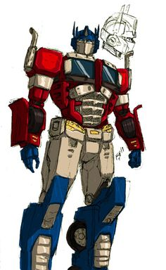 cartoons artwork The Last Prime by kyomusha. Op Prime gets an upgrade to his robot mode. Transformers Decepticons, Transformers Characters, Transformers Bumblebee, Transformers Optimus Prime, Dc Comics, Anime Comics, Marvel Dc, Transformers Collection, Robot