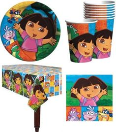BESTSELLER! Dora The Explorer Birthday Party Supplies Pack for 16 Guests $19.00