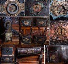 DeviantArt: More Like steampunk/victorian Belt-Bags by Aetherwerk