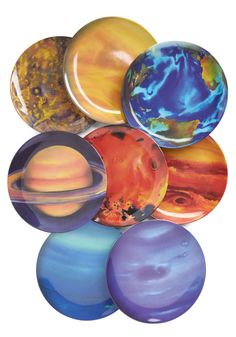 When the Planets A-Dine Plate Set. Dine in planetary splendor with this astronomical plate set! #multi #modcloth