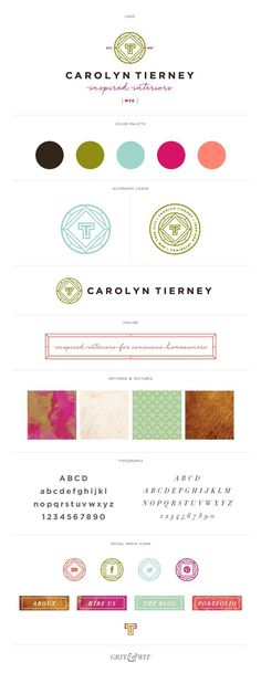 Wonderful color palette. Brand Reveal // Carolyn Tierney Interiors : Grit & Wit