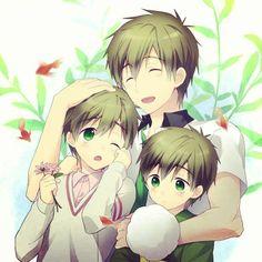 Tachibana Makoto and Young Makoto | Free!! #anime