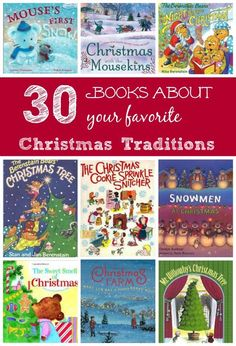 Christmas stories that are perfect to pair with your favorite holiday traditions!  The best books to read when you decorate the tree, bake cookies, etc.