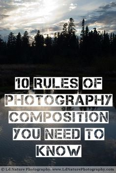 10 rules you should know if your a photographer or if your becoming a photographer.