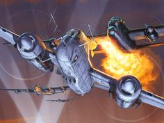 Heinkel He 219 Uhu vs Avro Lancasters, by Romain Hugault
