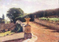 blastedheath:  Aleksander Gierymski (Polish, 1850-1901), Italian Garden, 1895-97.Oil on canvas. 54 x 75cm.Silesian Museum, Katowice.