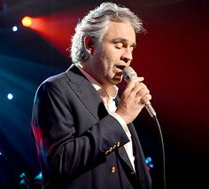 Andrea Bocelli performs on stage during iHeartRadio Live Presents Andrea Bocelli in 2013.