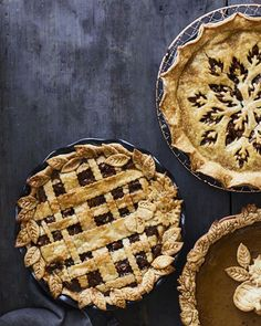 Pecan Pie with Lattice Crust | Combining pastry cutouts in the shape of autumn leaves and acorns with a lattice crust will help you assemble your most impressive pie yet.