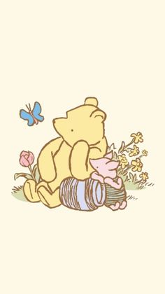 Winnie The Pooh Drawing, Winne The Pooh, Cute Winnie The Pooh, Cute Backgrounds, Cute Wallpapers, Wallpaper Backgrounds, Bear Wallpaper, Disney Wallpaper, Phone Screen Wallpaper