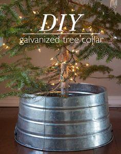 DIY Galvanized Tree Collar.