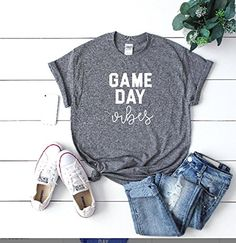 Game day vibes Sundays are for football women's football tee women's football outfit game day, Football tee - Lovely Novelty Women's Football Outfits, Football Tee, Football Season, Shirts With Sayings, Quote Shirts, Sundays Are For Football, Boyfriend Tee, Mom Jeans, Graphic Tees