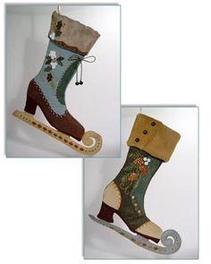 Katherine's Collection Bavarian Skate Stocking