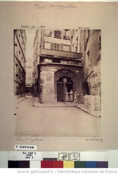 [Place Saint-Opportune]. N ° Atget :