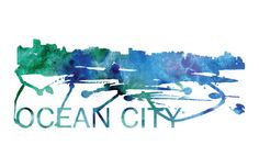 Ocean City MD Art, Ocean City MD Skyline, Ocean City MD map, Ocean City skyline, Ocean City map print  A beautiful Watercolor Art print of Ocean City, Maryland. Perfect for an office or a gift to one of your friends. This is one vacation you do not want to miss! :::Print Details::: * Prints are printed with high quality ink on high quality paper (100lb). *Posters includes 1/8in bleed (border) around poster * Colors may vary slightly based on your computer monitor settings. * Frame and m... City Skyline Art, Cityscape Art, City Art, Ocean City Md, Watercolor Map, Travel Posters, Maryland, Monitor, Cities