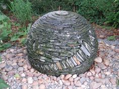 The slate fountain at Cowslip Workshop, Launceston, Cornwall Sea Glass Mosaic, The Slate, Water Features In The Garden, Cornwall, Garden Inspiration, Mosaics, Metals, Fountain, Woods