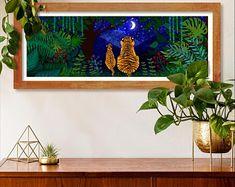 #tigers #stars #fabulous2021 #delicateart #allyearroundsparkle #goldleaf ##keepingthesparklealive #symmetry #illustration #gold #handpainted #wallart #mood #modernart #interiordesign #abstractart #contemporaryart #artwork #design #artistsoninstagram #nature #interiors #interiordecor #prints #etsy #procreate #イラスト #art ##newyearnewbeginnings #newyearnewhome Modern Art, Contemporary Art, Interior Decorating, Interior Design, Artwork Design, New Beginnings, Gold Leaf, Tigers, Abstract Art