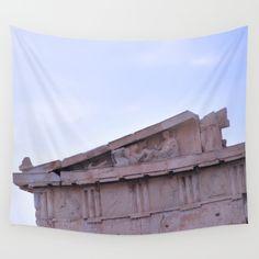 Parthenon Pediment Wall Tapestry by azima Wall Tapestries, Tapestry, Cyber Week Deals, Parthenon, Ancient Greece, Vivid Colors, Picnic Blanket, Wall Art