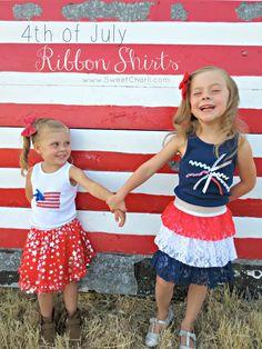 4th of July Ribbon Shirts from @kami_watson on BrassyApple.com #patriotic #sewing #4thofjuly