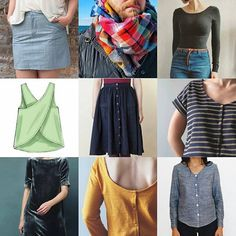 My #2017makenine plans! These are just nine of the probably fifteen things I'm planning/hoping to make so far, but I'm a silly goose who doesn't have a master list so this is what we get!  1. #mossskirt - not sure this'll work with my shape, but I want to try it with some lime green denim I found in San Francisco. 2. A colorful patchwork plaid scarf that goes with everything.  3. #nettiebodysuit - because I hate trying to keep my undershirts tucked in. 4. McCalls 6751 tulip back? cross back?…