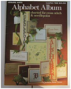 Leisure Arts Alphabet Album Cross Stitch Needlepoint Leaflet 162