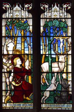 St Hubert and Sir Henry Clarke-Jervoise (Ninian Comper, 1912) | par Simon_K