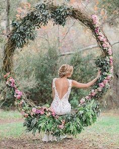 lush greens blush roses wreath wedding backdrop / http://www.himisspuff.com/wedding-wreaths-ideas/7/