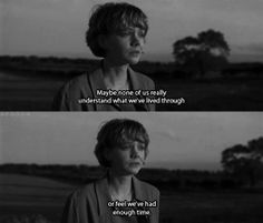"""Never Let Me Go Ishiguro; Carey Mulligan. """"Maybe none of us really understand what we've been through, or feel we've had enough time."""""""