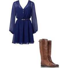 Fall dress so cute