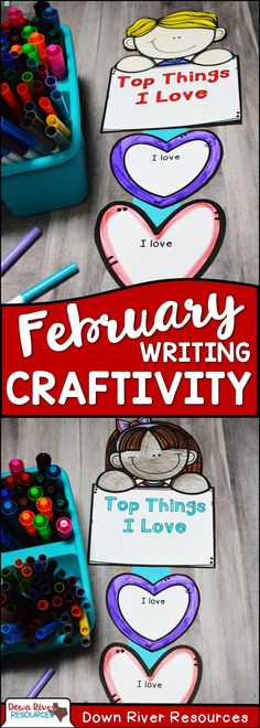 Valentine's Day Crafts for Kids | Valentine's Day Crafts for Kids Easy | Valentine's Day Craftivity | February Bulletin Board | Valentine's Day Writing for Kindergarten | Valentine's Day Writing for First Grade | Valentine's Day Writing for Second Grade | Valentine's Day Writing for Third Grade | Valentine's Day Writing for Fourth Grade | Valentine's Day Writing for Fifth Grade | February Crafts for Kids