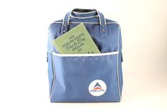 Delta Airlines Navy Blue Nylon Tote Bag by Circa810 on Etsy, $25.00