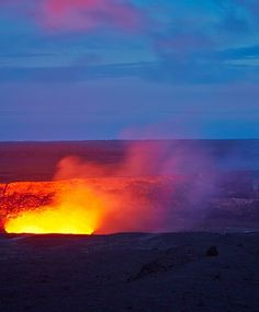 The view from Hawaii's Kīlauea Visitor Center (Jaggar Museum) of the Kīlauea Caldera is especially stunning at dusk.