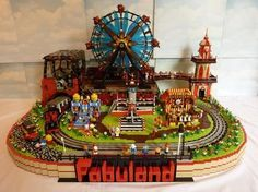 FABULAND FUN FAIR by Dave Sterling. Awesome! Love this idea. And i really like the way its it's own diorama...