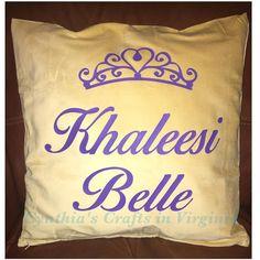 Custom Made Cushion  #custommade #personalized #pillow #disneyinspired #belle #princesspillow #cynthiascraftsinvirginia #etsy #ikea #shoplocal