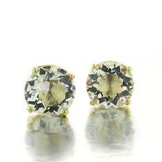 Gold Plated Swarovski Stud Earrings paradisojewelry.com wholesale sterling and genuine gemstones
